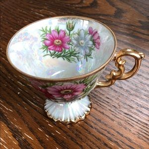 October Cosmos mother of pearl tea cup